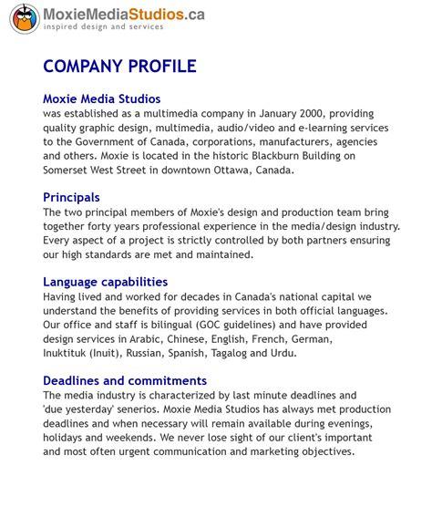 graphic design company profile sle moxie media studios ottawa canada multimedia graphic