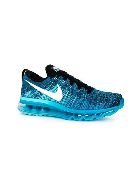 nike blue sneakers lyst nike flyknit air max sneakers in blue