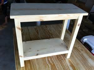 Diy Bedroom End Table White Narrow Modifed End Table Diy Projects