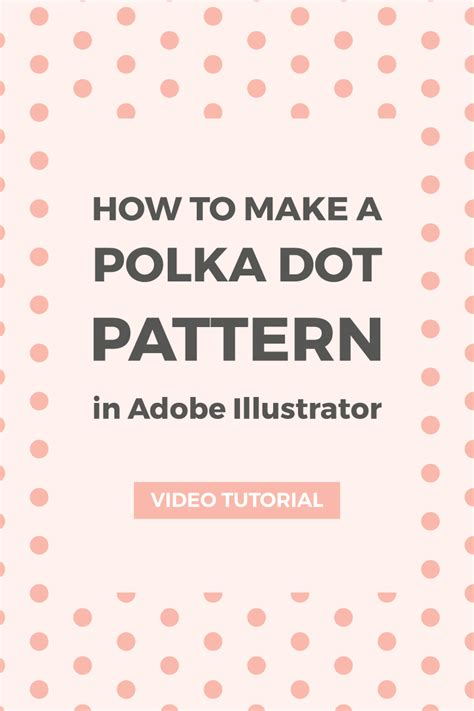 polka dot pattern maker create a polka dot pattern in illustrator elan creative co