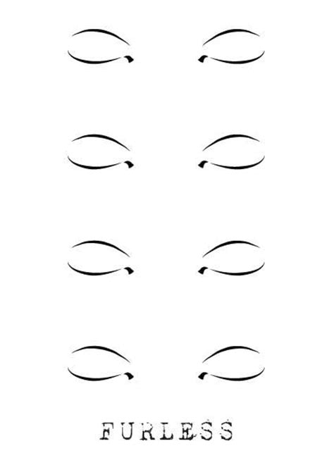 Free Face Design Makeup Templates Furless Eye Makeup Template