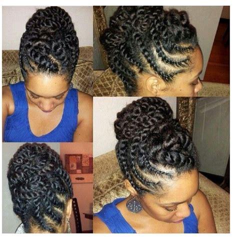 updo braid on my twa updo braid on my twa braiding twa short hairstyle 2013