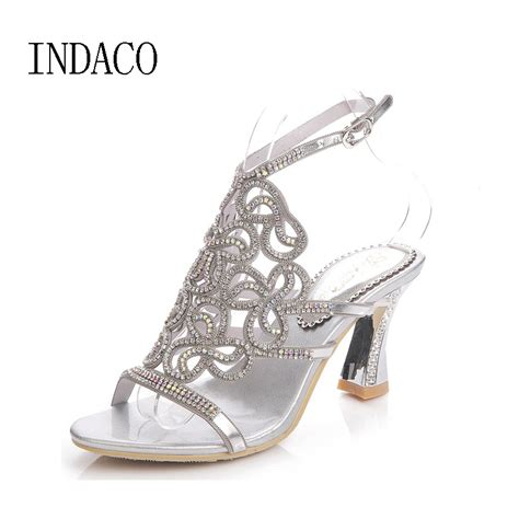 Silver Sandals For Wedding by Aliexpress Buy 2017 Silver Rhinestone Sandals