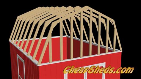 build barn style shed roof trusses youtube