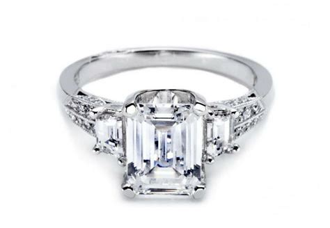 tacori engagement rings emerald cut rings