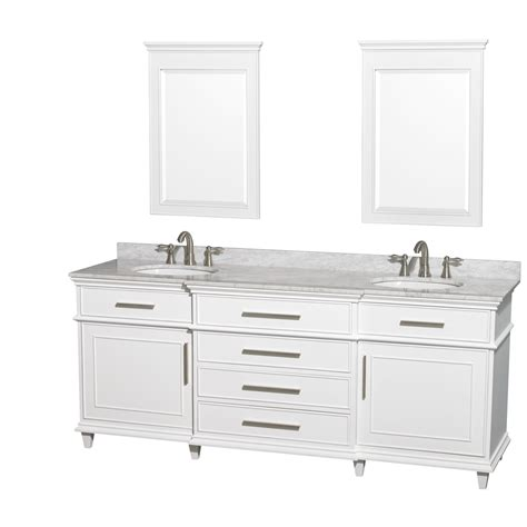 80 Inch Bathroom Vanity Avola 80 Inch White Finish Sink Bathroom Vanity White Carrara Marble Or Ivory