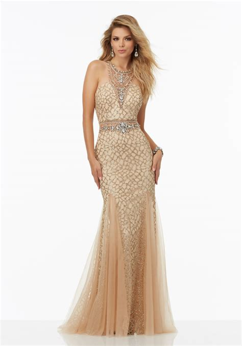 beaded homecoming dresses fully beaded prom dress featuring caviar beading style