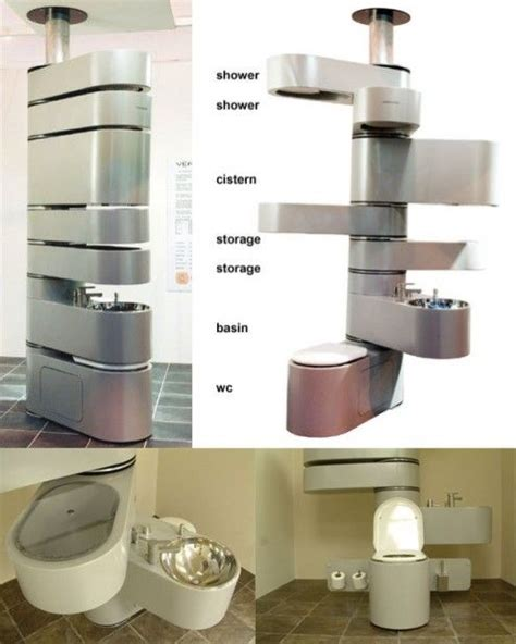 Bathroom Space Saver Furniture Small Bathroom Make It Vertical With Vertabrae 174 Toilets Space Saving Furniture And Furniture