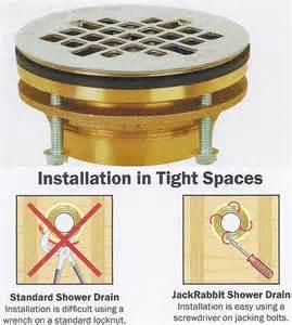 oatey quot no caulk quot drain leaking in shower w acrylic pan