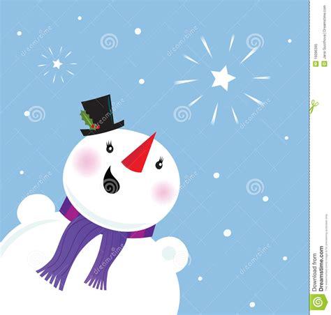 happy snowman   snow  christmas star royalty  stock photo image