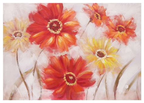 fiori quadro quadro fiori e gialli 100x70 32329