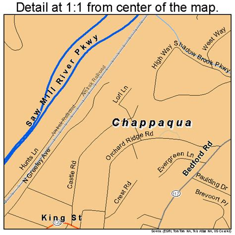 where is chappaqua chappaqua new york street map 3613805