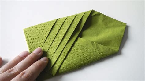 Folded Paper Napkins - fold paper napkins easy origami