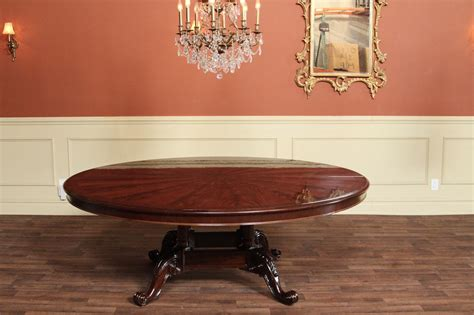 84 inch dining large 84 inch round mahogany dining table round table