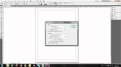 How To Insert Table In Indesign by Placing An Excel Table In An Indesign Document