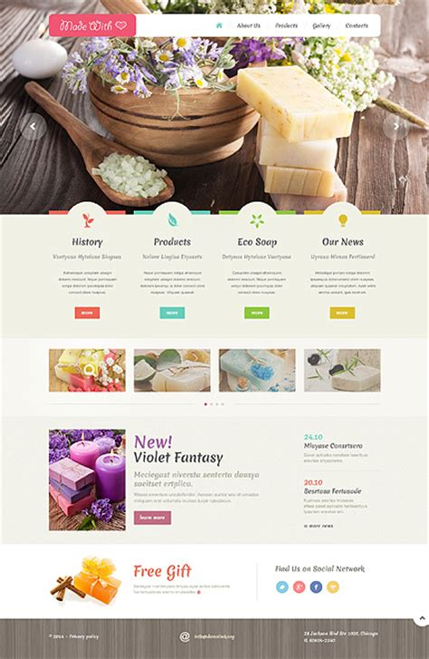 Handmade Websites - best website templates 2014 entheos