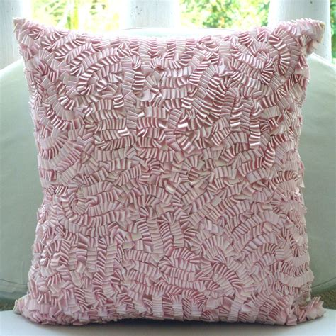 pink couch pillows pink ribbon art work 12 quot x12 quot silk throw pillows cover