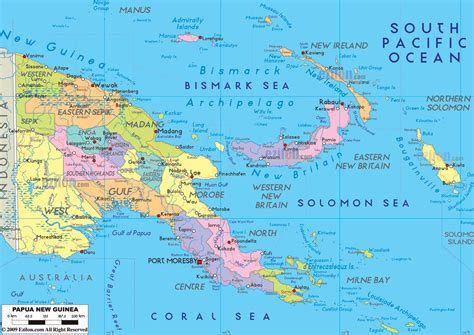 physical map of papua new guinea large detailed administrative map of papua new guinea with