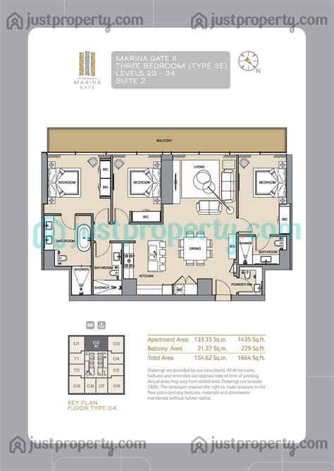 gate tower floor plan marina gate tower 2 floor plans justproperty