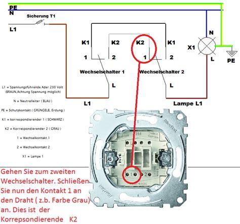 jalousie mit 2 schaltern wechselschaltung 3 schalter 1 le raum und
