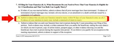 Relationship Proof Letter For Visa I 129f Evidence Of Intent To 171 Visa Tutor