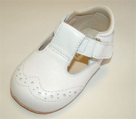 ickle shooz traditional white t bar pram shoes