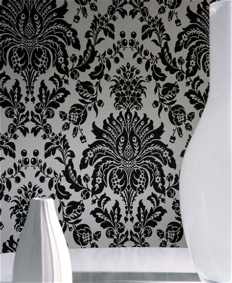 black and white feature wallpaper pin leaf damask black white wallpaper border pictures on