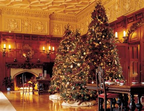 holiday decorations with biltmore like style nc