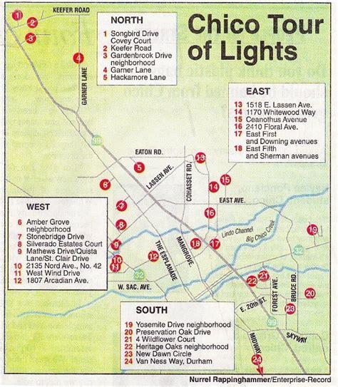 california map chico lights display at 1518 e lassen ave