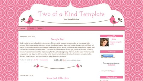 10 best images of cute blogger template cute blog