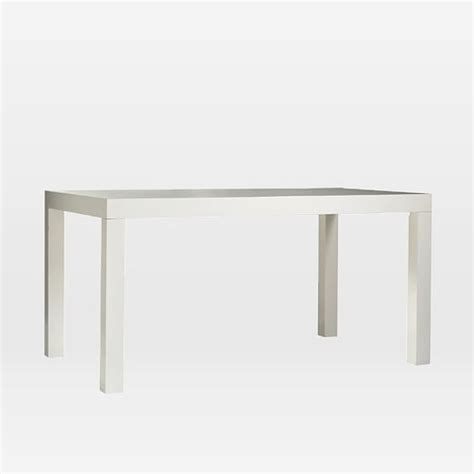 elm white table parsons dining table rectangle elm