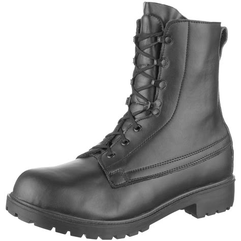 army boots for army combat assault black leather mens