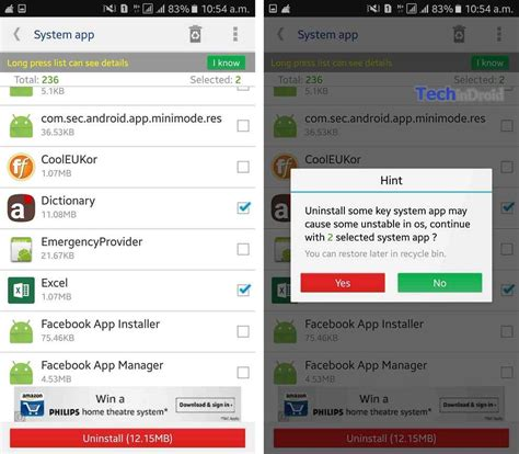 uninstall app android how to uninstall system apps on android remove bloatware