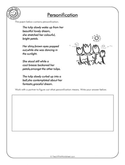 Personification Worksheets by Teach This Worksheets Create And Customise Your Own