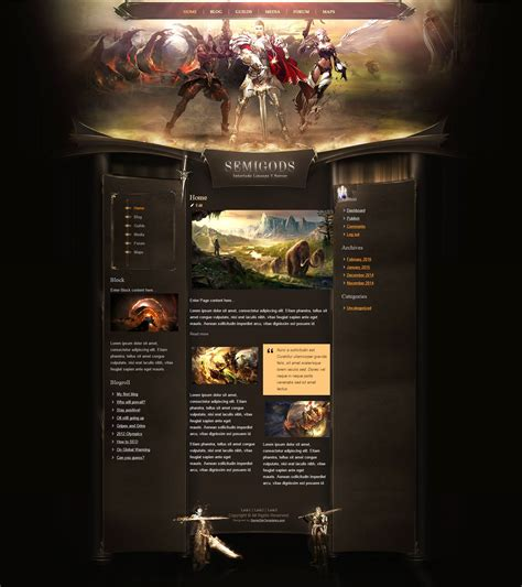 html game themes gods html template