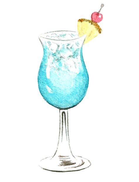 watercolor cocktail cocktail watercolor vector material 06 free