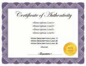 certificate of authenticity autograph template certificate of authenticity this is better