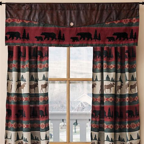 lodge curtains browning camo deer drapes cabin place