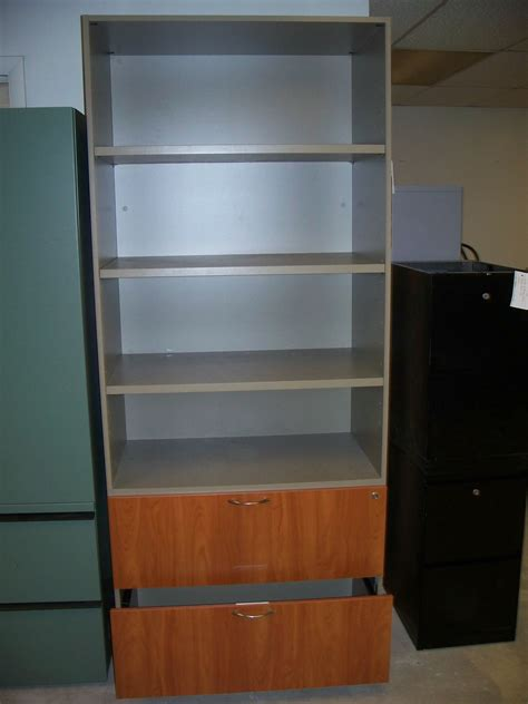 bookcase file cabinet combo 3h laminate lateral file and bookcase combo