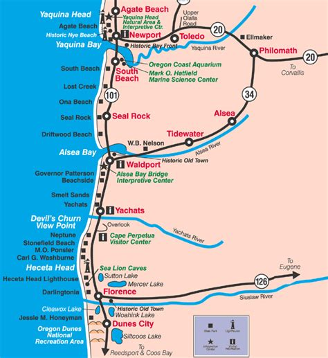 map of oregon coast cities roadtripdays4 5