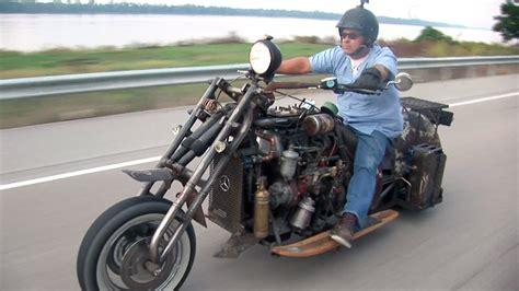 mercedes motorcycle custom motorcycle with a mercedes diesel engine swap