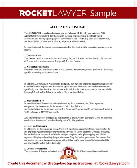 bookkeeping agreement template bookkeeping contract agreement with template