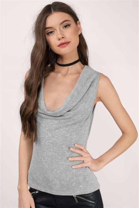 best grey grey tank top grey top knitted top 18 00