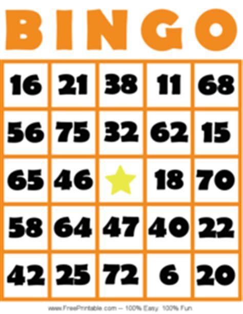 random number cards printable bingo card 5