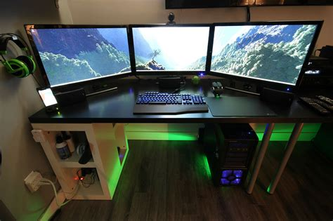 Desk Gaming Setup Cool Computer Setups And Gaming Setups
