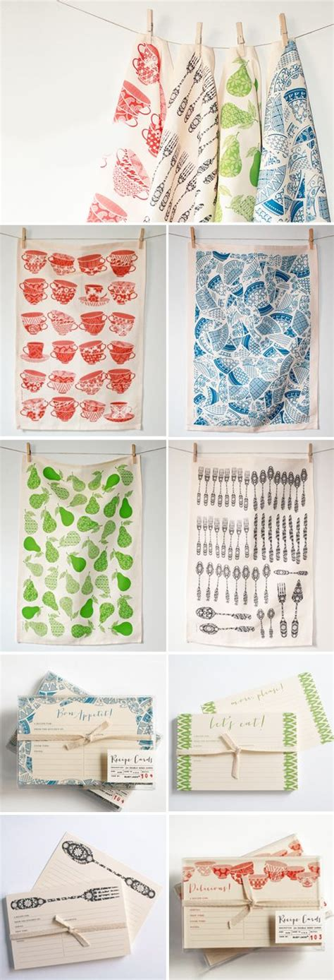 Kitchen Towel Designs Recipe Cards Tea Towels And Towels On