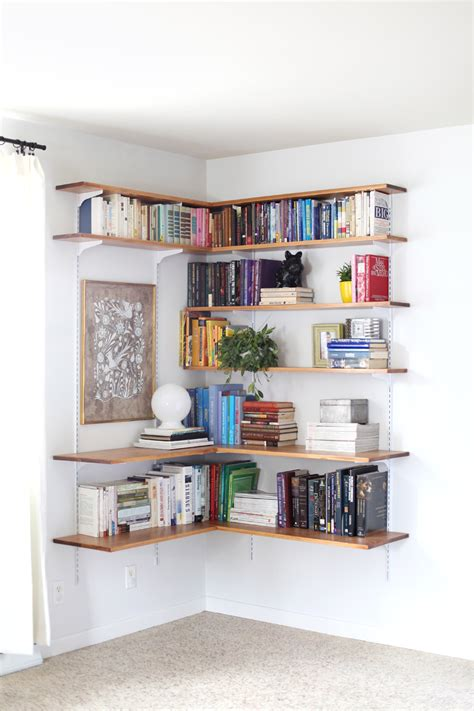 Diy Wall Shelf Ideas Modern Magazin Diy Corner Bookcase