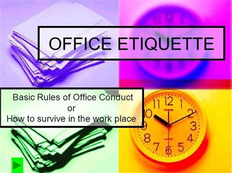 Office Etiquette Office Manners And Etiquettes Images