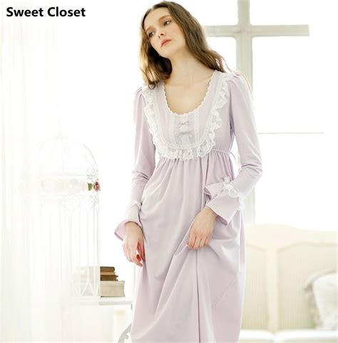 vintage nightgowns womens vintage pajamas women s princess long sleepwear long sleeve nightgowns