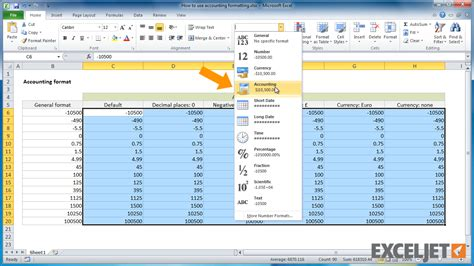 Format Excel Accounting | excel tutorial how to use accounting formatting in excel